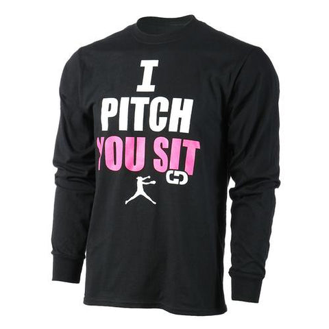 Gimmedat - I Pitch You Sit Long Sleeve Shirt
