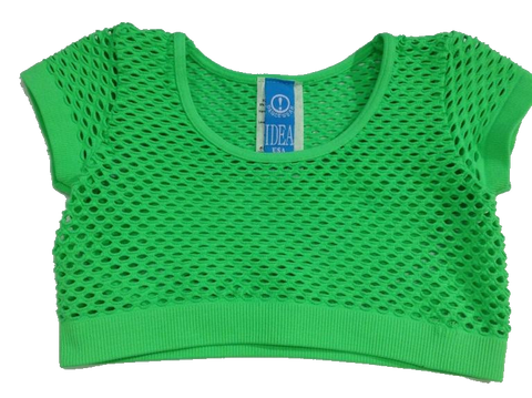 Idea- Crop Fishnet Top
