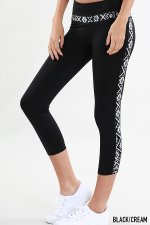NikiBiki - Tribal Contrast Capri Leggings