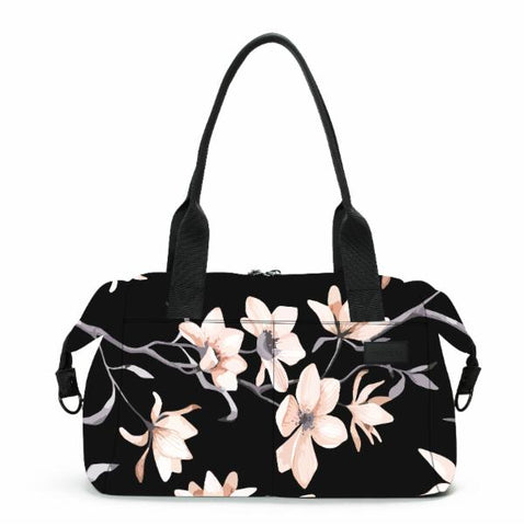 Vooray Alana Neoprene Duffel-Black Cherry Print