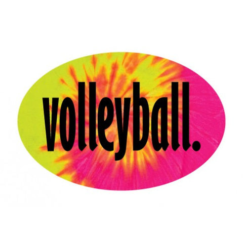 Go Run USA Volleyball Oval Decal
