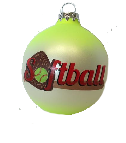 Bronners Softball Ornament