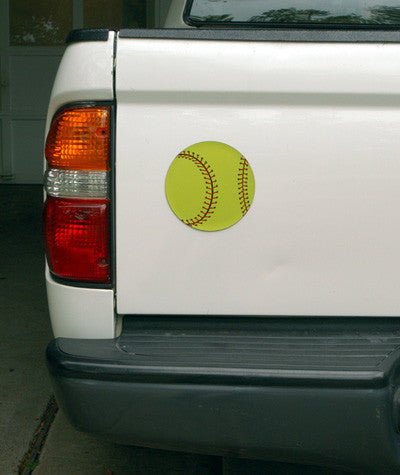 Sport Star Athletics- Softball Car Magnet