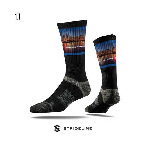 Strideline - Portland Skyline Sock