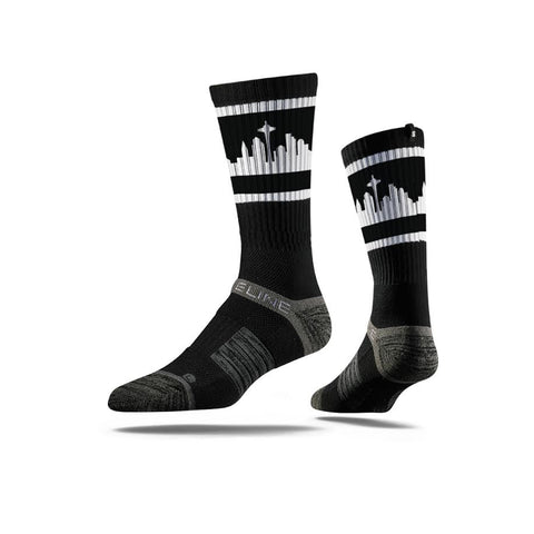 Strideline - Seattle Retro Skyline Sock