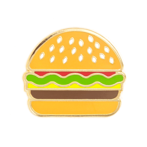 These Are Things-Burger Pin