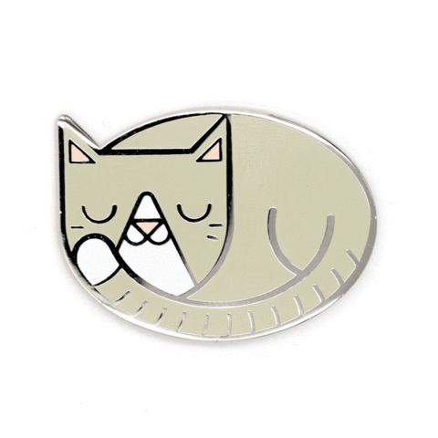 These Are Things-Cat Nap Pin