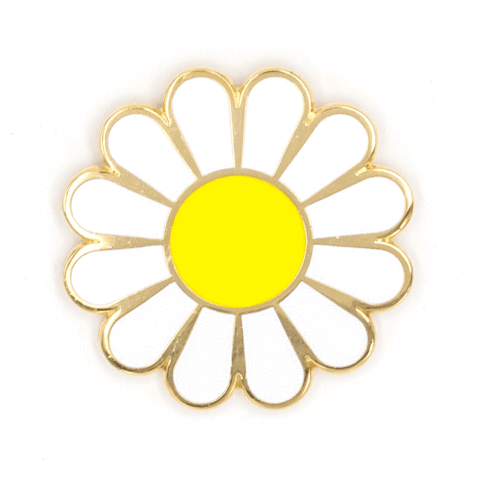 These Are Things-White Daisy Pin