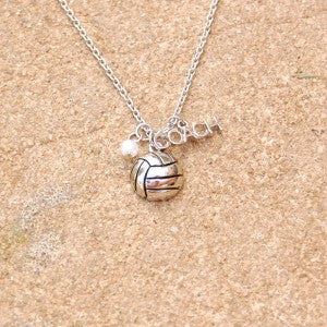 Gimmedat Volleyball Coach Silver Necklace