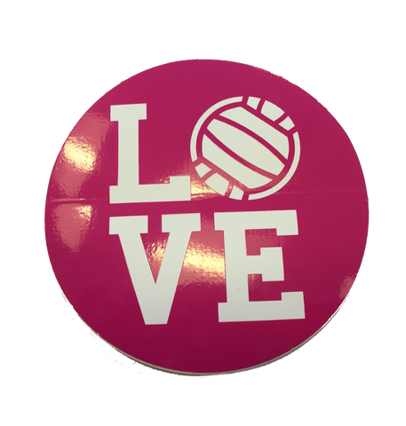 BaySix Love Volleyball Decal