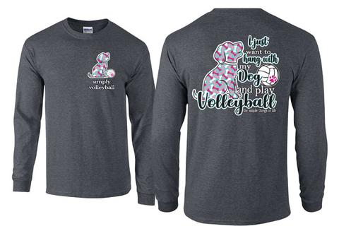 Victory Sportswear - Volleyball Dog Long Sleeve Tee