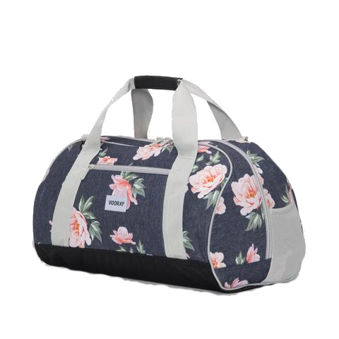 Vooray Burner Gym Duffel-Rose Navy Print Large