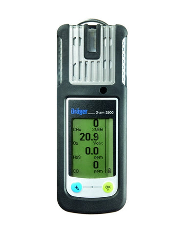 Draeger X-Am 2500 Rechargable Multi-Gas Monitor - Alkaline