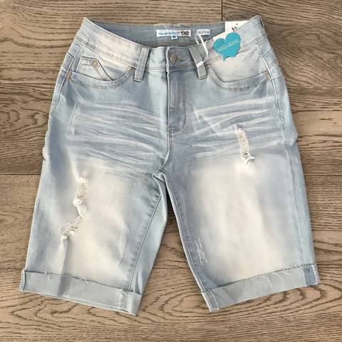 denim bermuda- light wash