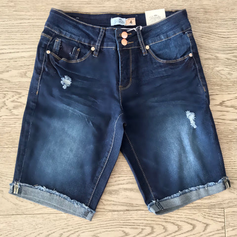 denim bermuda- dark wash