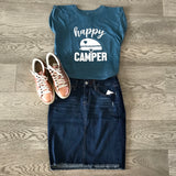 happy camper muscle tee