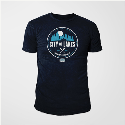 City of Lakes Tee Navy