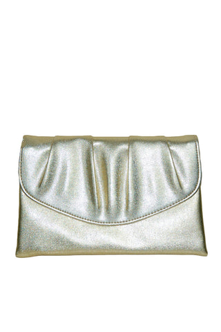 Gold Metallic Clutch w/Snap Closure