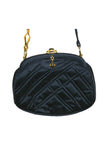 Greta Designer Black Satin, Quilted Evening