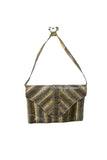 Snakeskin Envelope Clutch w/Removable Strap