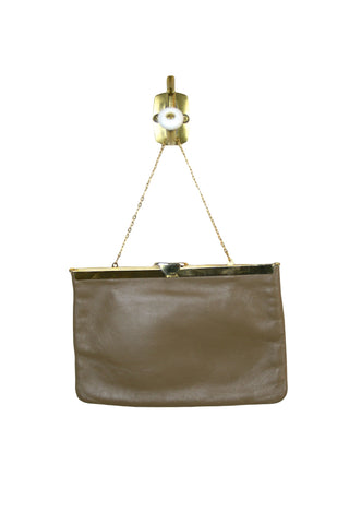 Etra Taupe Envelope Clutch w/Chain
