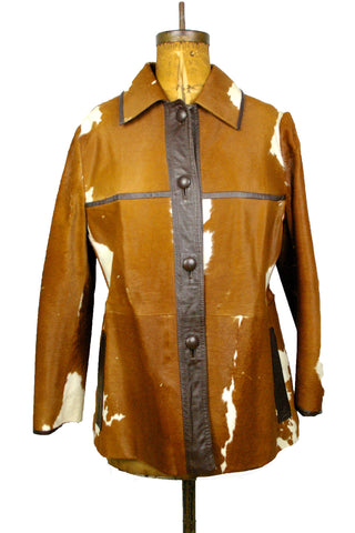 "Rare ""One Of A Kind"" Cow Hide Coat"