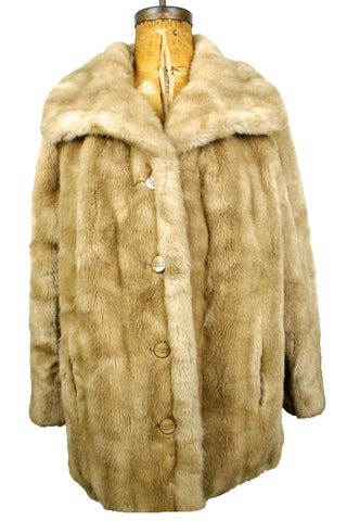 Fabulous Whiskey Faux Fur Coat