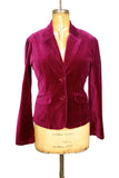 Burgundy Velvet Tailored Jacket