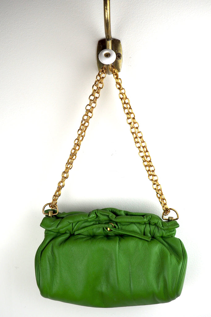 Lively Lime Green Leather Mini Bag