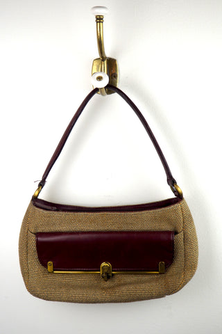 Classic Etienne Aigner Shoulder Bag w/Outside Flap Pocket
