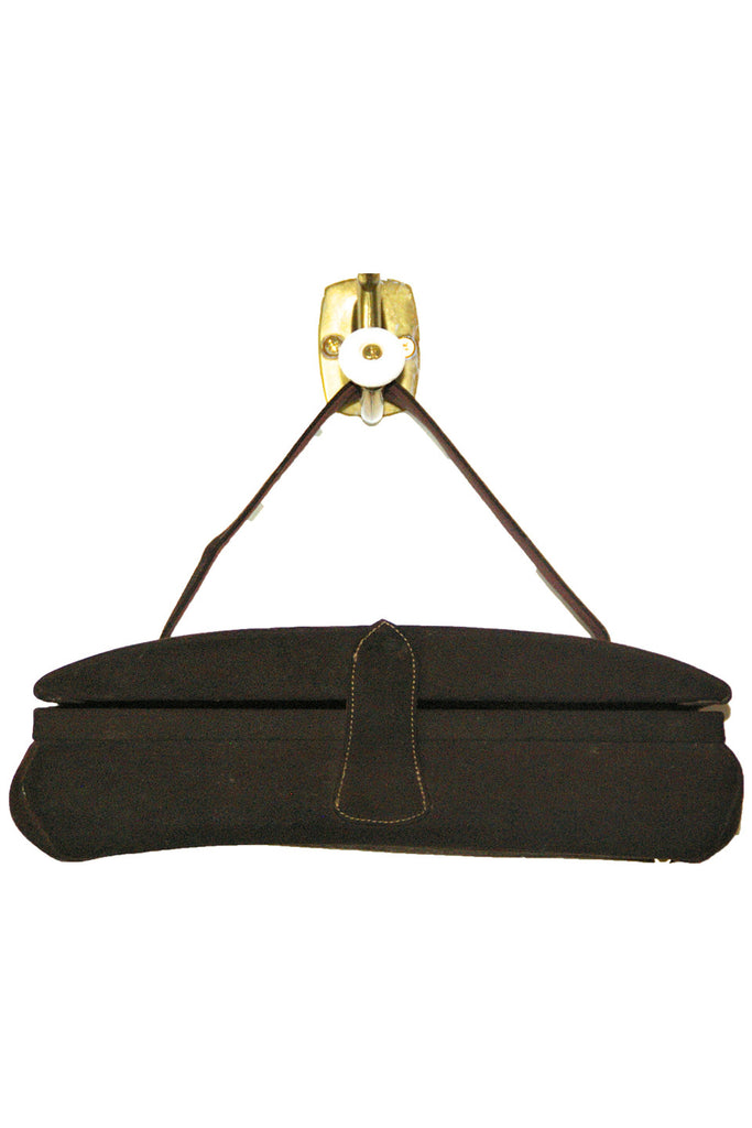 Dark Chocolate, Suede Evening Bag