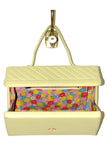 Charming, Pear Colored Leather w/ Multicolored Interior