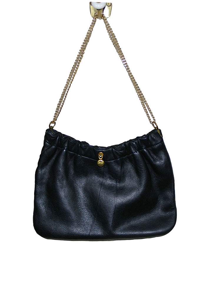 Ande' Black Leather Special Occasion Bag