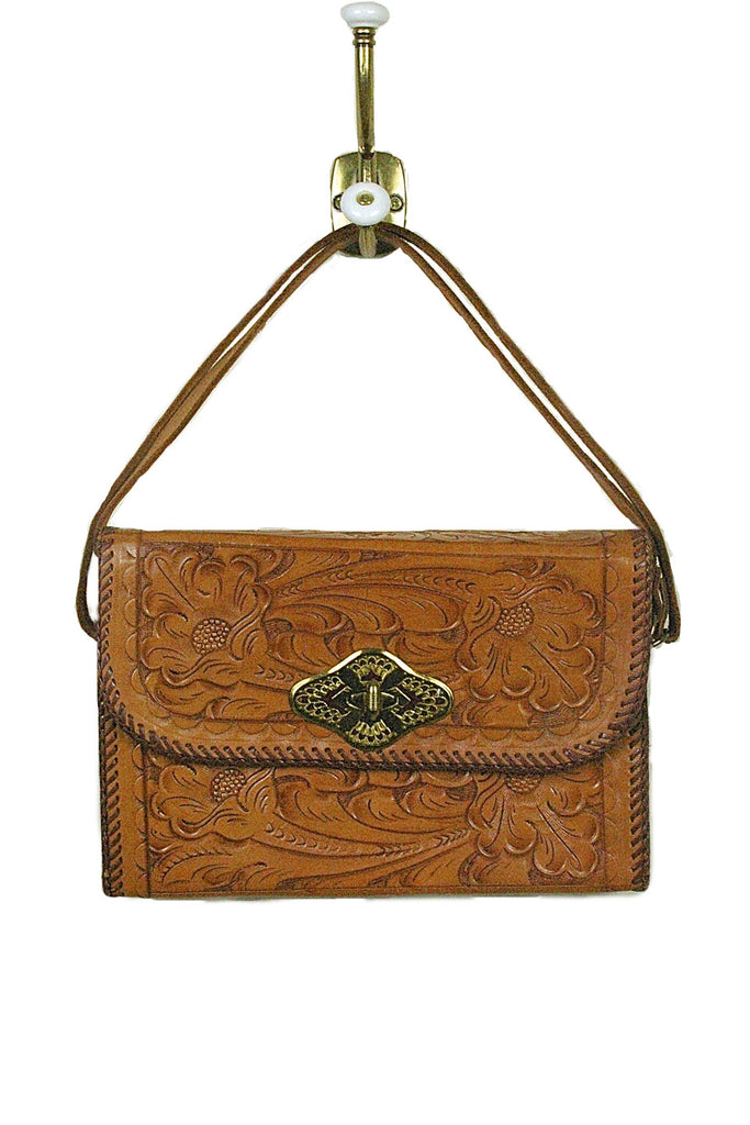Hand Tooled Leather w/ Brass Trim