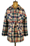 Pendleton Wool Plaid Car Coat w/ Tie