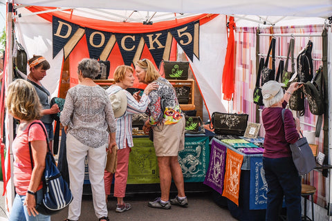 Dock 5 booth at the Grand Marais Arts Festival