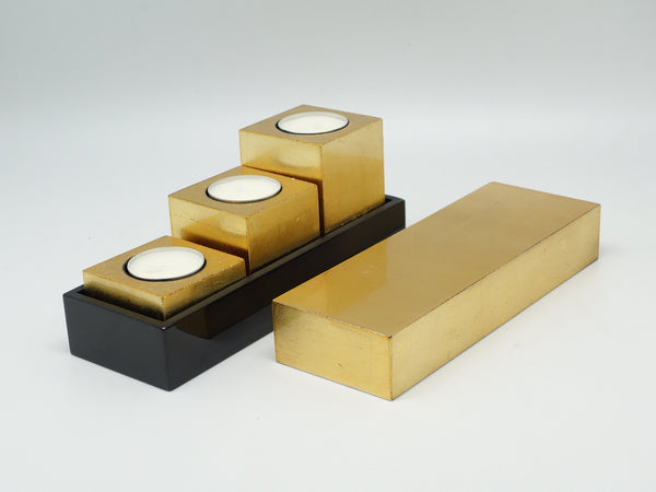 LACQUER CANDLE TRAVEL SET ABSTRACT