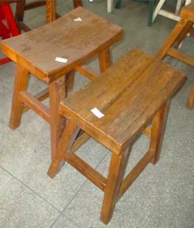 SADDLE STOOL CH-159 *OLD WOOD*