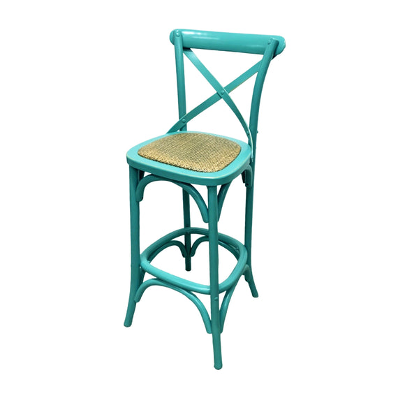 BARSTOOL CROSSBACK TURQUOISE MQZ-209