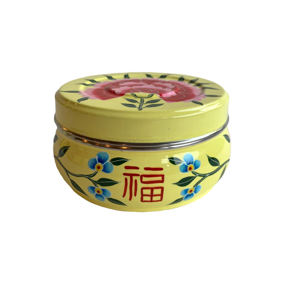 STEEL HANDPAINTED PURI BOX YELLOW