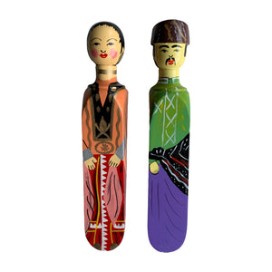 HANDPAINTED DOOR STOPPER SULUK MAN AND WOMAN SET