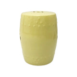 DRUM STOOL PLAIN PALE YELLOW