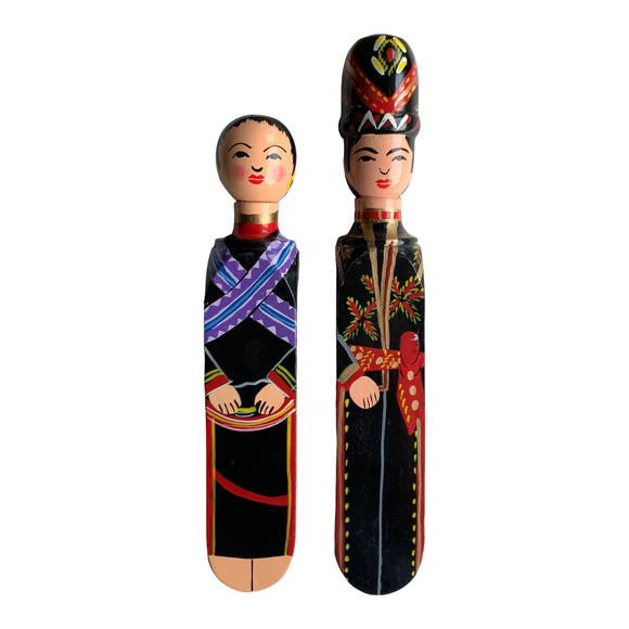 HANDPAINTED DOOR STOPPER IRRANUN MAN AND WOMAN SET