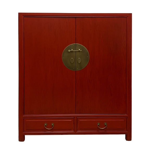 CABINET ORIENT 2DW2DR RED WASH MQZ-36