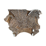 "MANGO WOOD CARVED WALL HANG 8"" - PEGASUS"