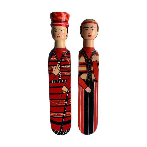 HANDPAINTED DOOR STOPPER RUNGUS MAN AND WOMAN SET