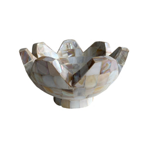 "MOTHER OF PEARL DESIGNER BOWL 6"" CURVE"