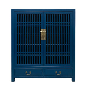 CABINET LATTICE 2DW2DR BLUE MQZ-35