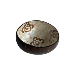 COCONUT BOWL SET OF 2 - FLOWER #1
