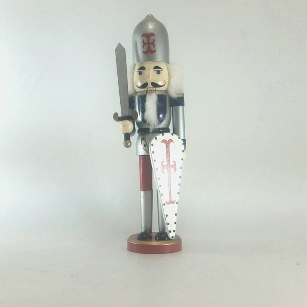 NUTCRACKER WOOD 40CM SILVER 206352F
